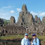 February 2014 Travel Tips and Tales Newsletter - Jill and Viv at Angkor Thom, Cambodia
