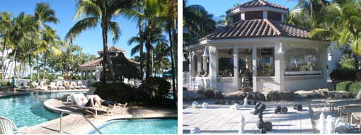 Lago Mar pool, gazebo bar and giant chess game