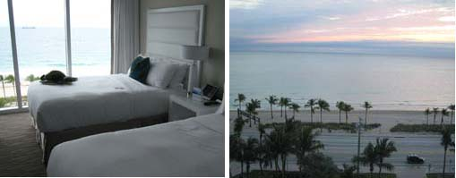 B Ocean bedroom and sunrise from the room