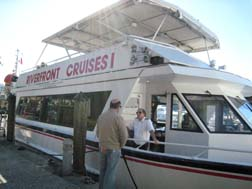 Riverfront cruises boat with guide Capt Peter Marton