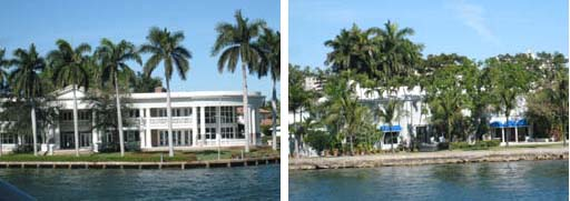 Intracoastal White House and Gloria Vanderbilt house