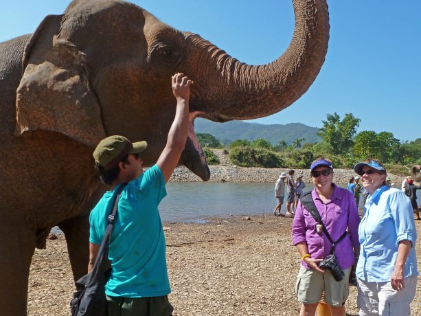 Viv and Jill at Elephant Nature Park in Northern Thailand
