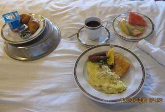 Breakfast in Bed on MS Oosterdam