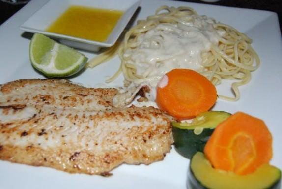 Dinner - Fish with Lemon Garlic Butter Sauce