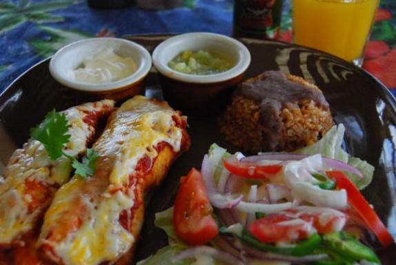 Lunch - Beef Enchiladas