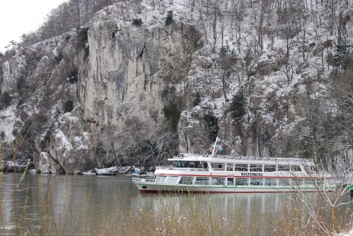 Ferry to Weltenburg Abbey in Bavaria, Germany