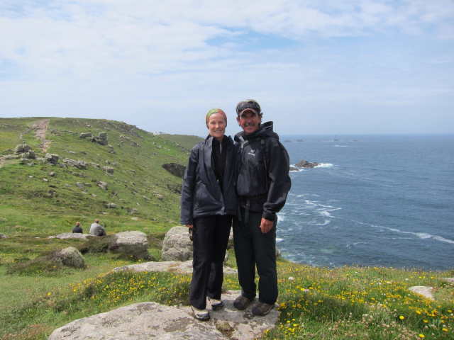 Ethel and Terry Hiking at Land's End