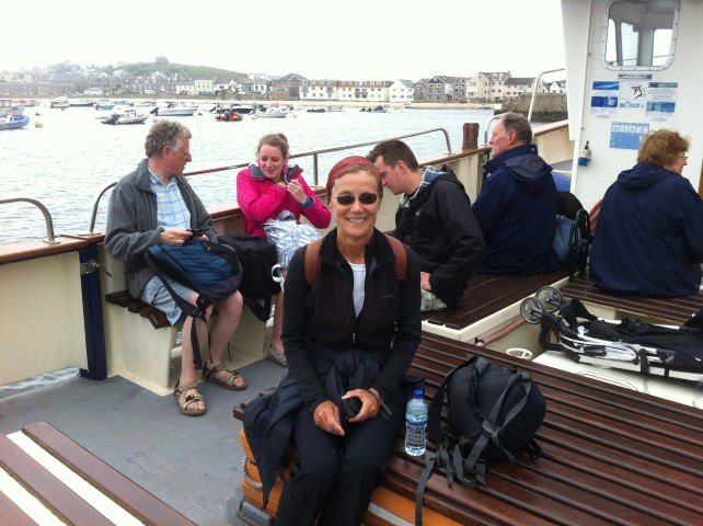 Ethel on a Boat Tour to See the Puffins