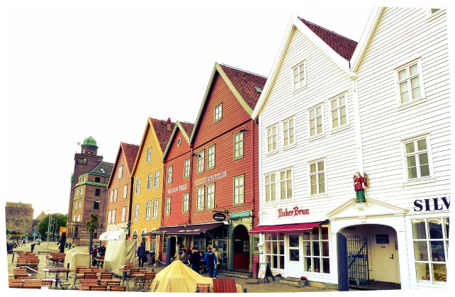 The Bryggen in Bergen is a UNESCO World Heritage Site