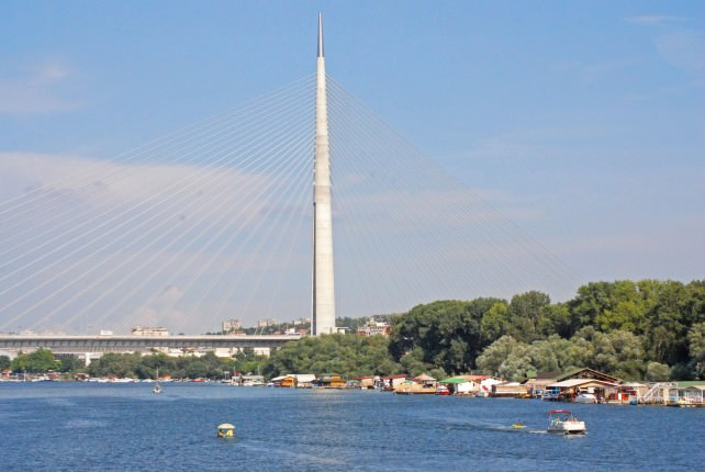 Belgrade Modern Bridge Over Sava River