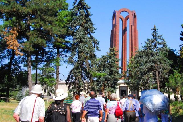 Monument in Carol I Park in Bucharest, Romania