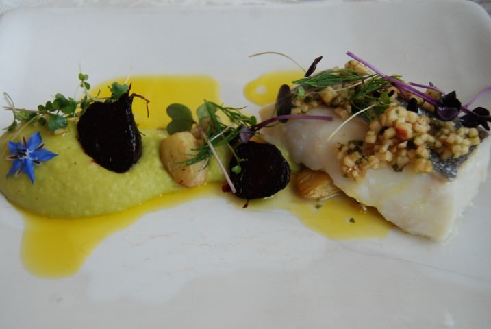 Main Course of Hake with Local Organic Vegetables
