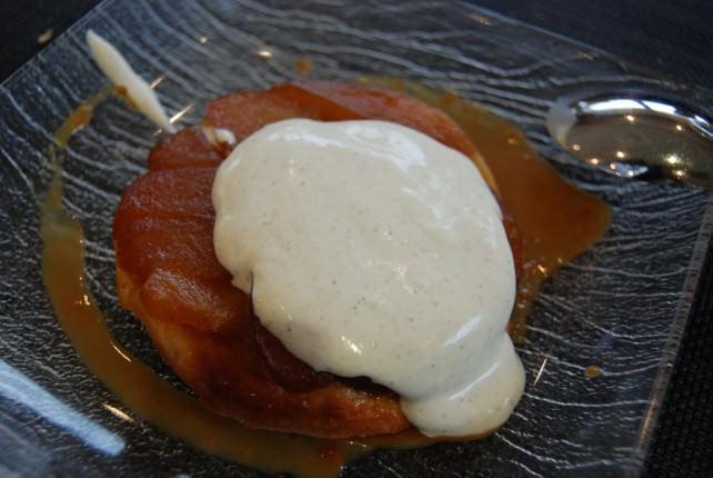 Apple Tart and Creme Fraiche Dessert