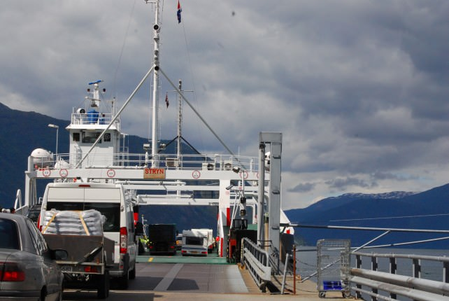 Ferry Across Årdalsfjord from Fodnes to Mannheller