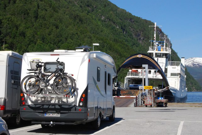 Ferry from Eisdal to Linge, Norway