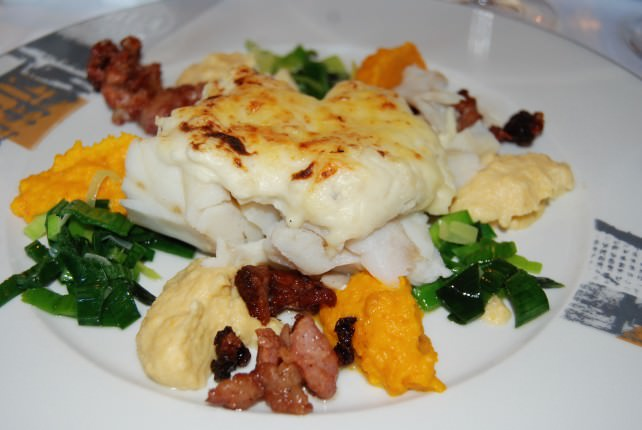 Sjøbua Restaurant - Gratinated Salted Dried Cod