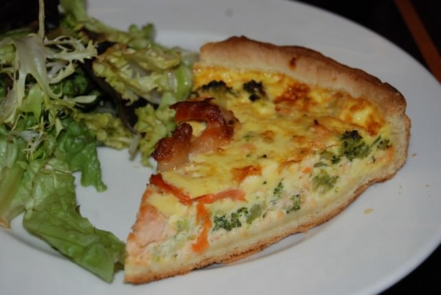 Globus Welcome Dinner at Chez Bruno - Salmon Quiche