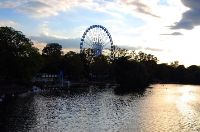 Sunset in Windsor, England