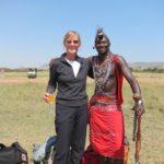 Ethel with Masai Warrior