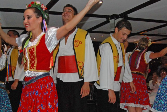 Folklore Dancers on Uniworld River Princess