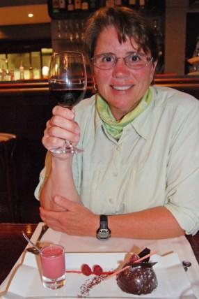 Jill at Bistrot de la Tranchee - Dome Fondant au Chocolat Dessert