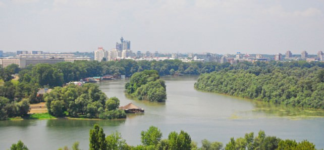 New Belgrade and Sava River