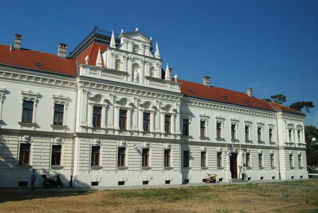 Rebuilt Building in Vukovar, Croatia