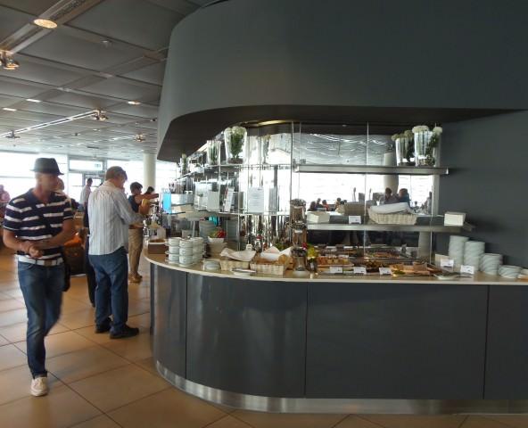 Lufthansa Business Class lounge in Frankfurt, Germany