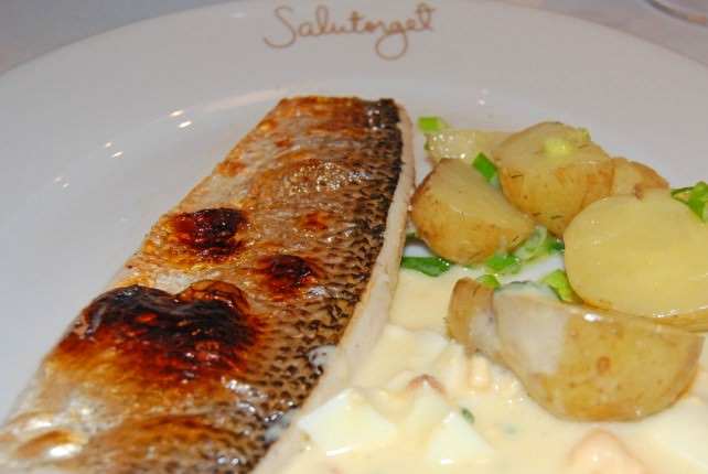 Dining at Salutorget Scandinavian Bistro in Helsinki