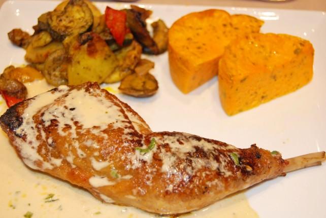 Guinea Fowl Leg with Tarragon and Potatoes