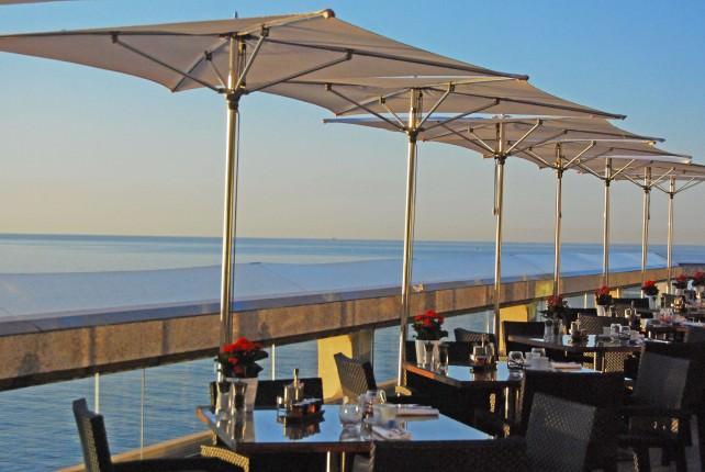 Restaurant Terrance Overlooking The Mediterranean Sea