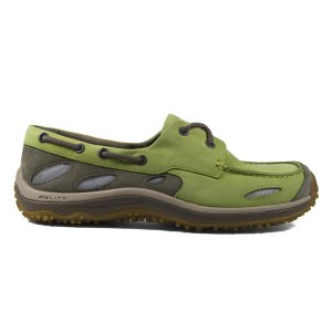 GoLite Footwear Women's SailLite Boat Shoe in Lime/Fossil