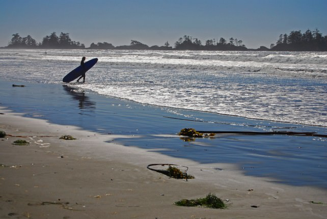 Surfing on Chesterman Beach
