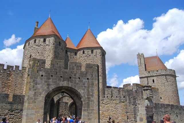 Carcassonne is a Medieval Walled City in France