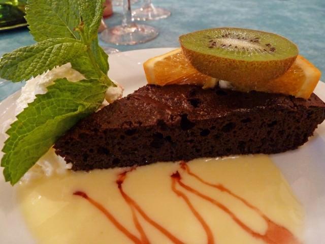 Bordeaux Dinner - Chocolate Torte Dessert