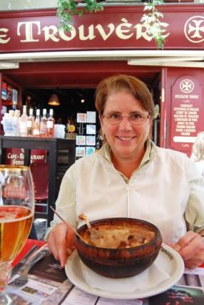 Jill Enjoys Cassoulet in Carcassonne