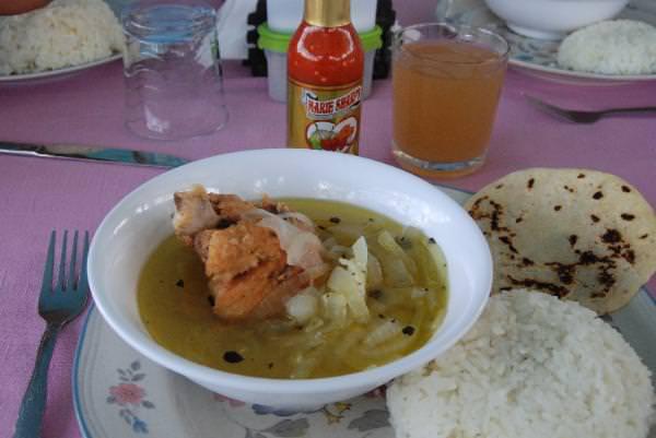 Lunch at Lamanai Village Store
