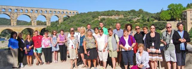 Group Photo at Pont du Gard