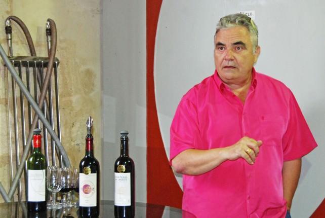Chateau du Laudes Wine Tasting - Christian Gombaud