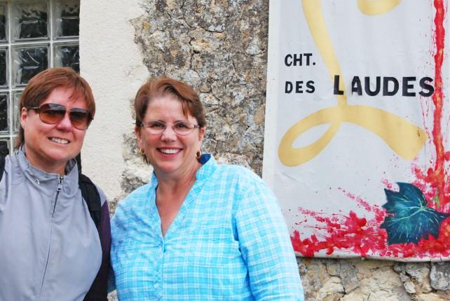 Viv and Jill in Saint Emilion