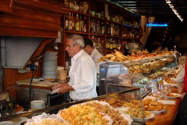 Inside Cerveceria Naviera in Barcelona, Spain