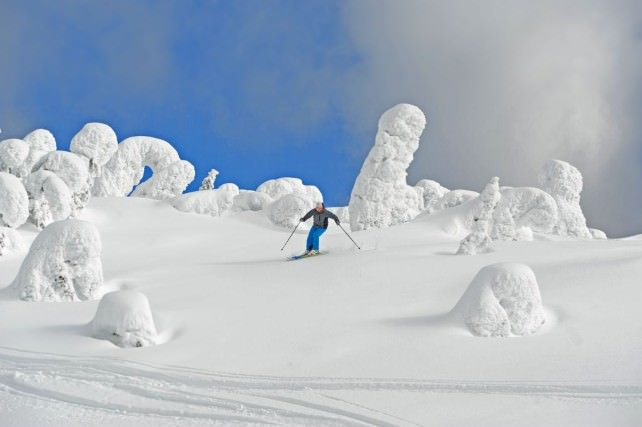 Skiing the Bowls Where Snow Ghosts Hang Out - photo by Big White Ski Resort