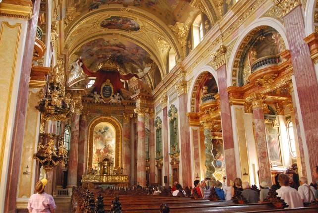 Jesuitenkirche Baroque Interior - Jesuit Church in Vienna