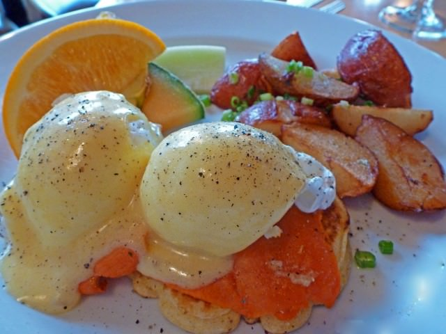 Smoked Salmon Benedict at Provence Mediterranean Grill