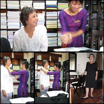 Visiting a Tailor in Hoi An, Vietnam