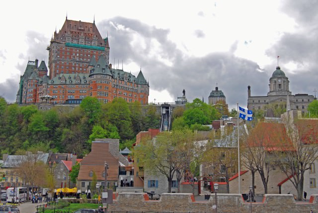Chateau Frontenac and Quebec City's Old Town