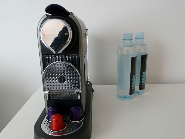 Complimentary In-Room Nespresso Machine and Bottled Water