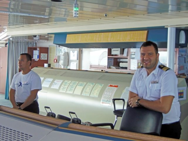 Able Seaman Dexter Ian Lico and Chief Officer of the Deck Evangelidis Vasileios