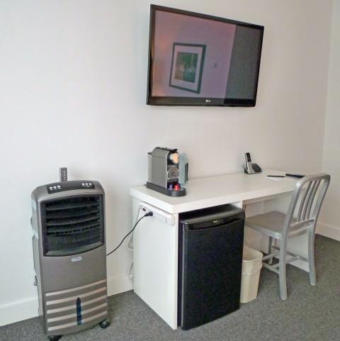 The Burrard - Desk and Flatscreen TV