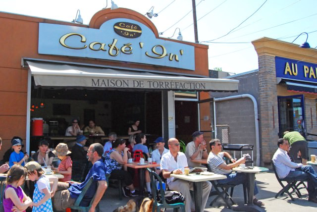 Enjoying a Lazy Sunday Afternoon at Cafe In, Jean-Talon Market in Montreal
